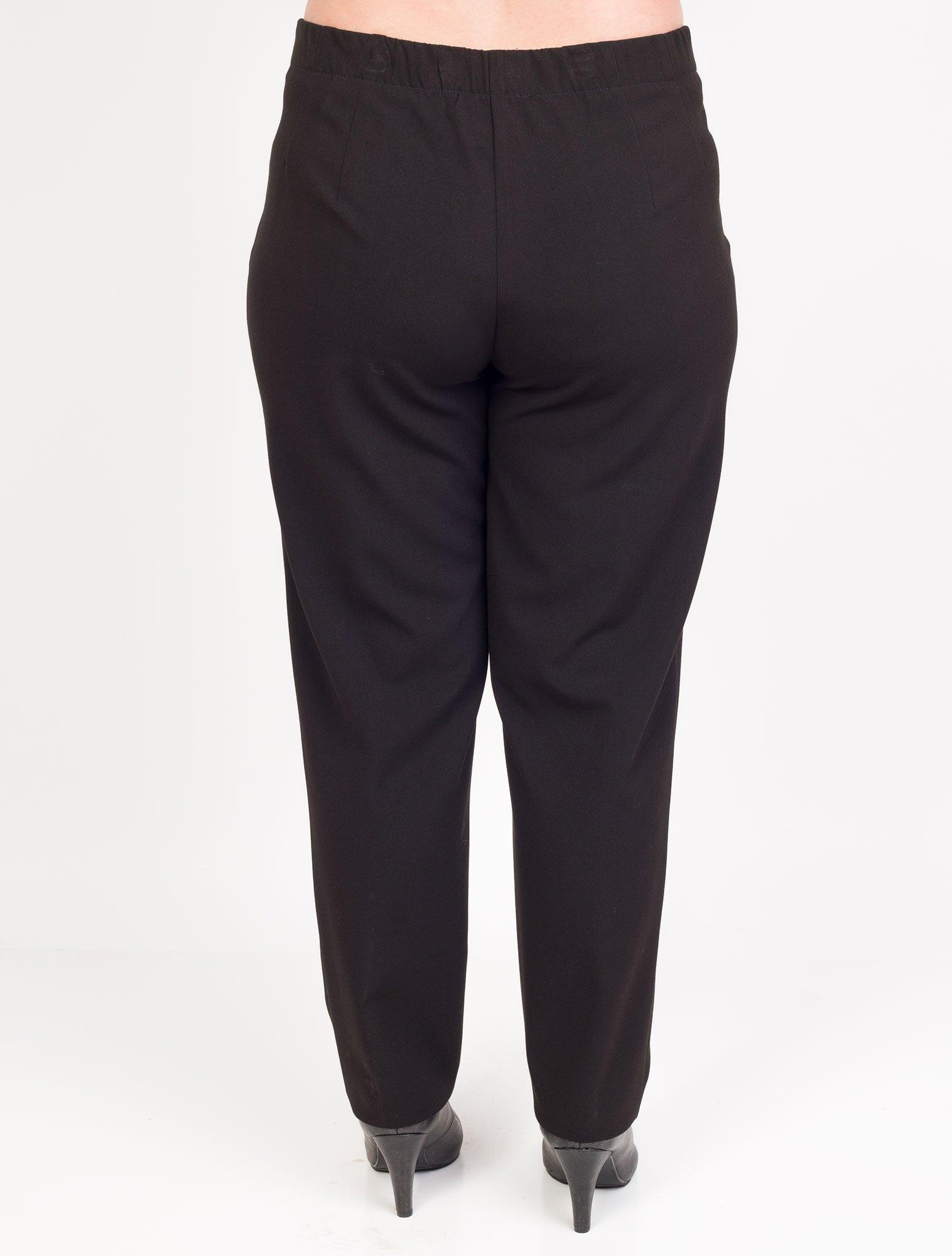 Qneel Klassiske pene svarte bukser med stretch