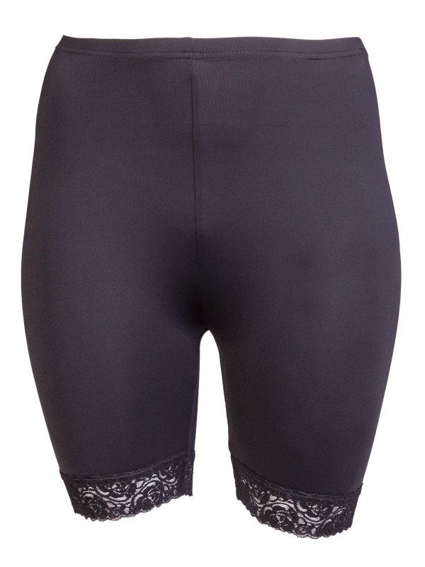 Myke bukser i mikrofiber med fin blondekant fra Gozzip
